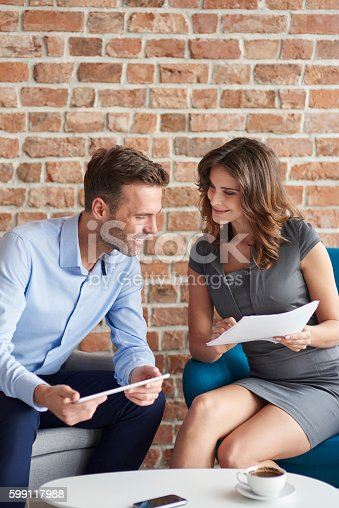 istock Business meeting over a good coffee 599117988