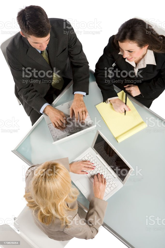 Business Meeting Overhead View royalty-free stock photo