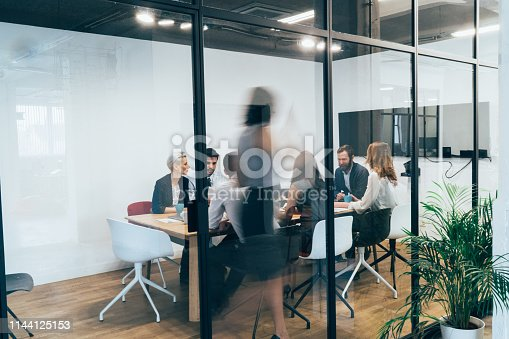 Business people on business meeting in board room