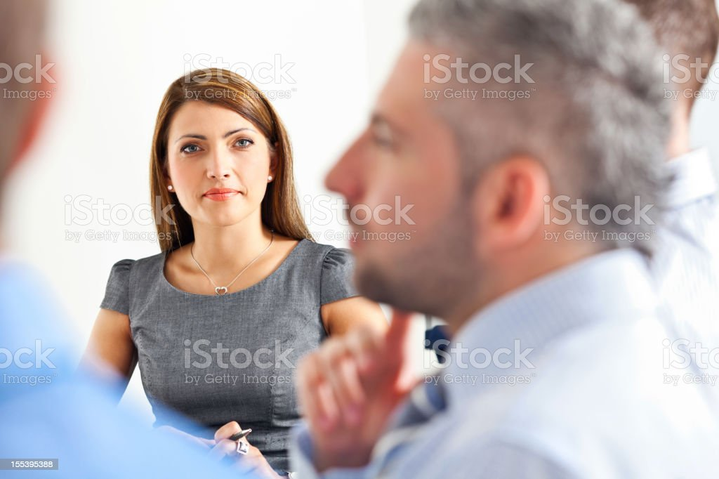 Business meeting  A Helping Hand Stock Photo