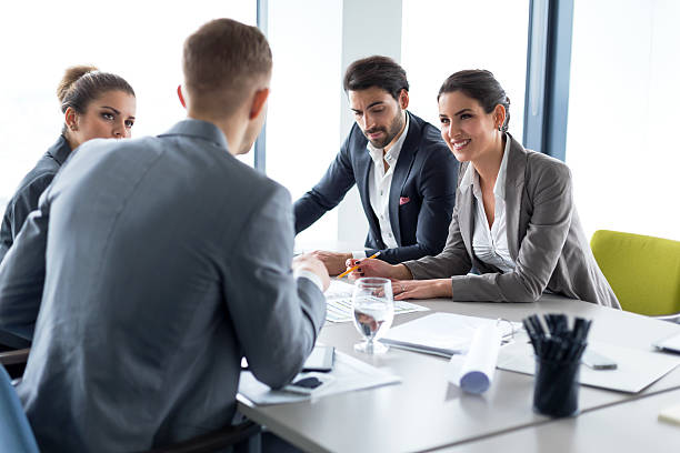 business meeting - bankers stock photos and pictures
