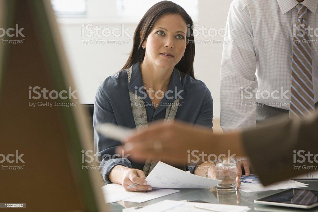 Business meeting presentation royalty-free stock photo