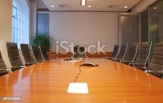 istock Business meeting room in office with modern decoration 467019455