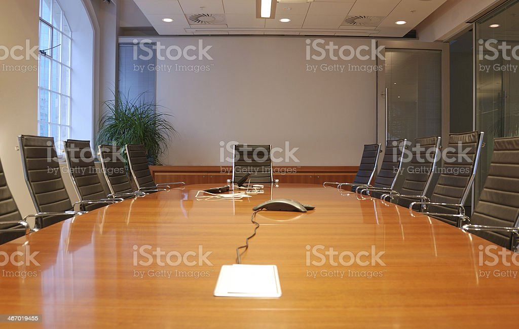 Business meeting room in office with modern decoration stock photo