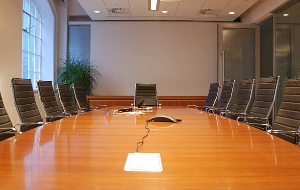 Sala riunioni del Business in ufficio con decorazioni moderne - foto stock