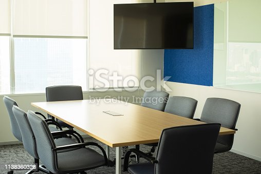 1064053478 istock photo Business meeting room or Board room interiors. 1138360328