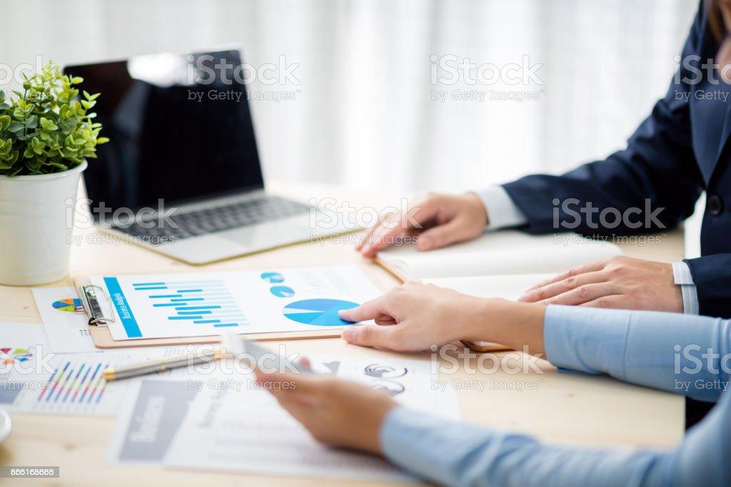 Business meeting time. Idea presentation, analyze plans.business concept. stock photo