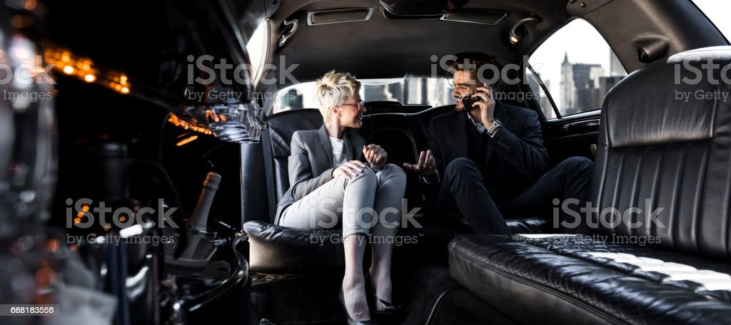 Business meeting to go stock photo