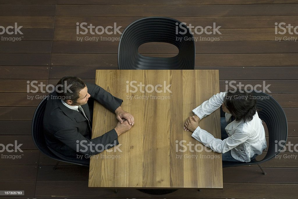 business meeting view from above stock photo