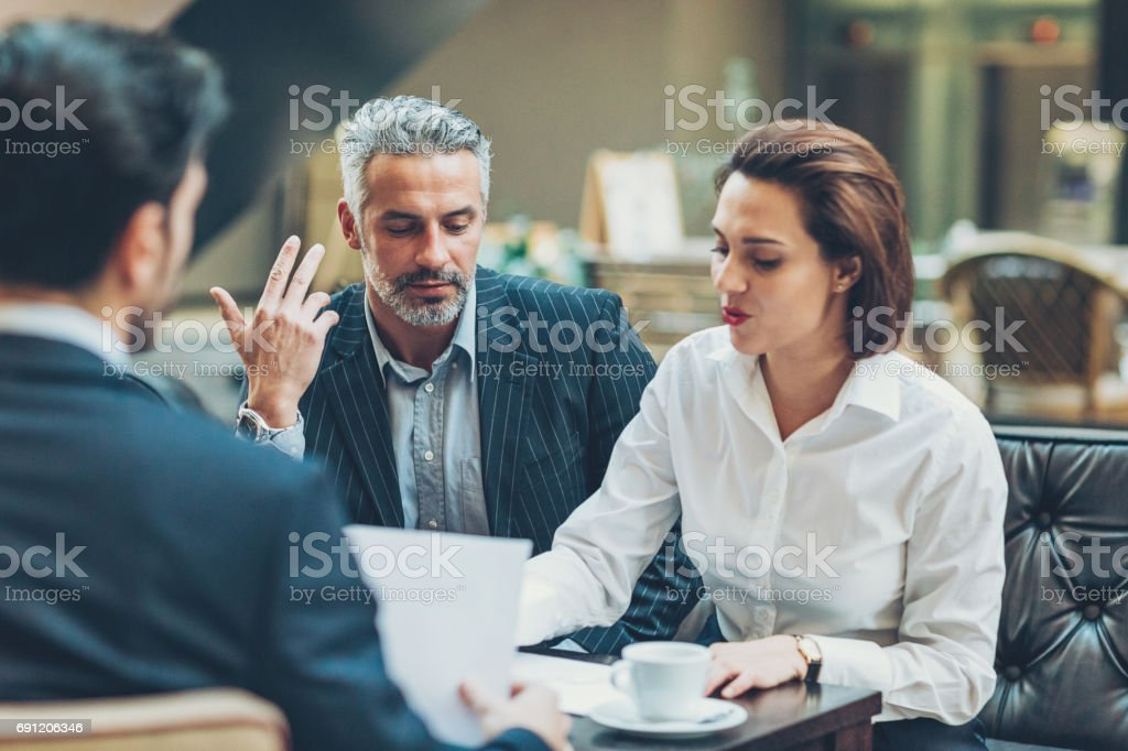 Business meeting with CEO stock photo