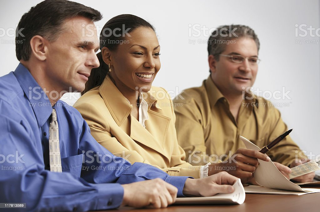 Business Meeting with Consultant and Businessmen royalty-free stock photo