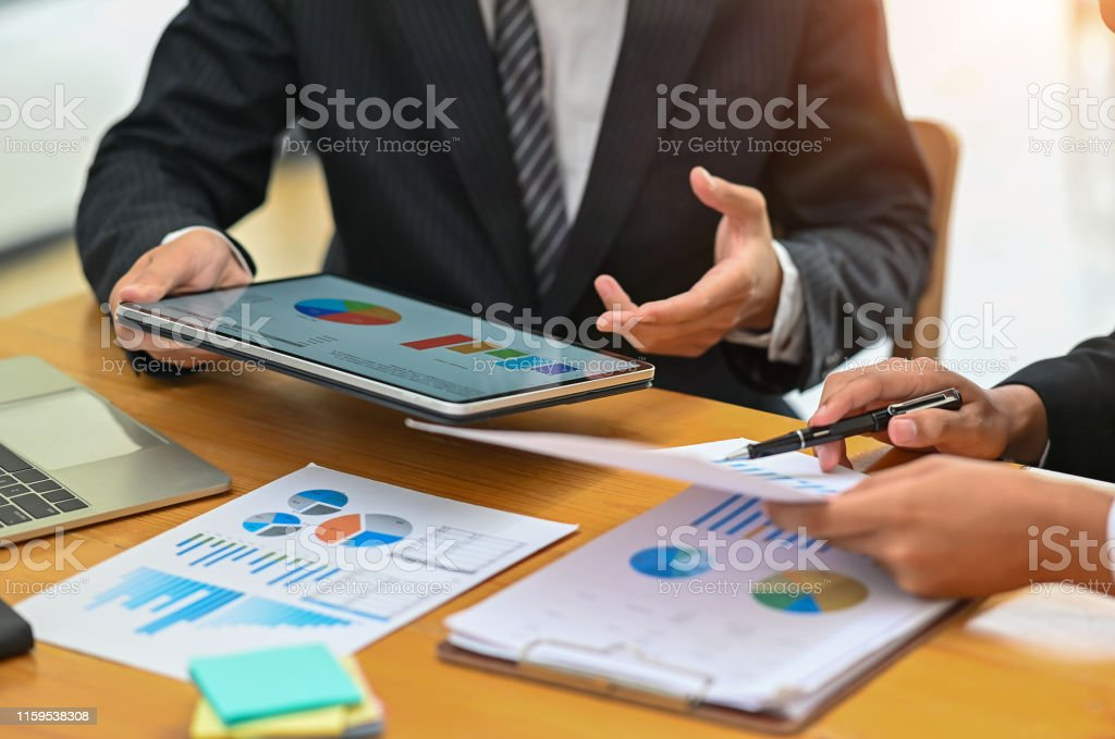 Business meeting with digital tablet, Consult concept.