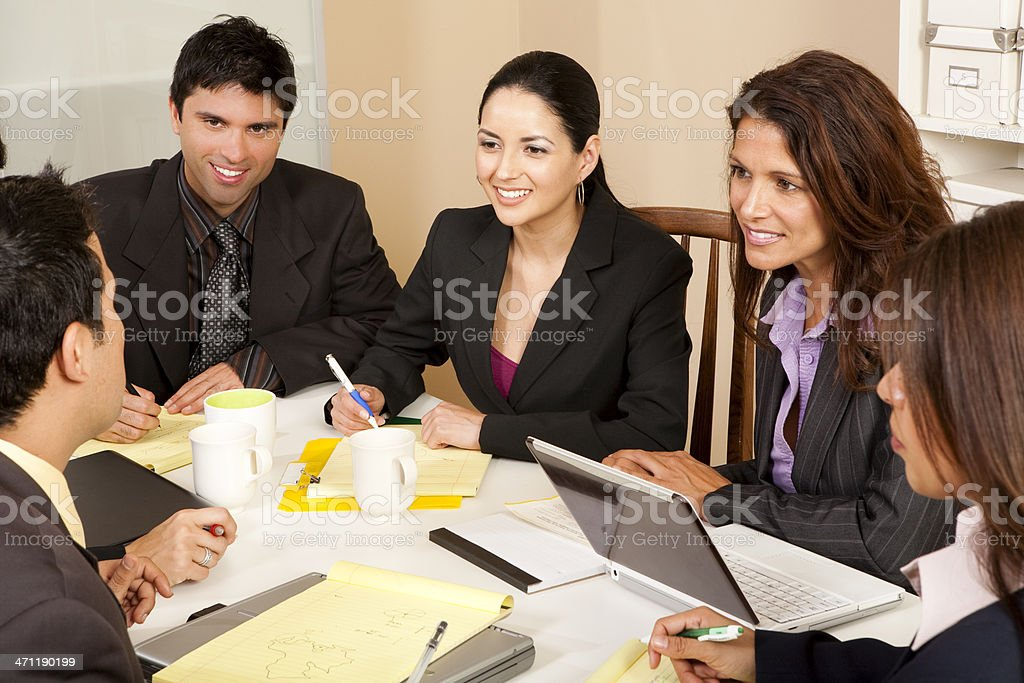 Business Meeting with Latinos royalty-free stock photo