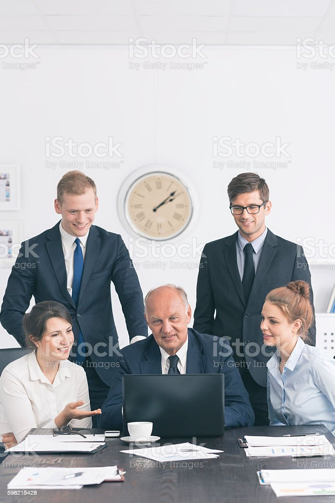 Business meetings in a modern world foto royalty-free