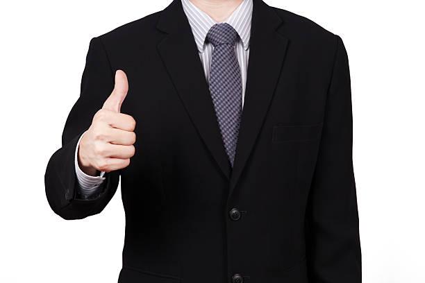 Business Männer hand Gestikulieren Daumen hoch Zeichen Erfolg – Foto