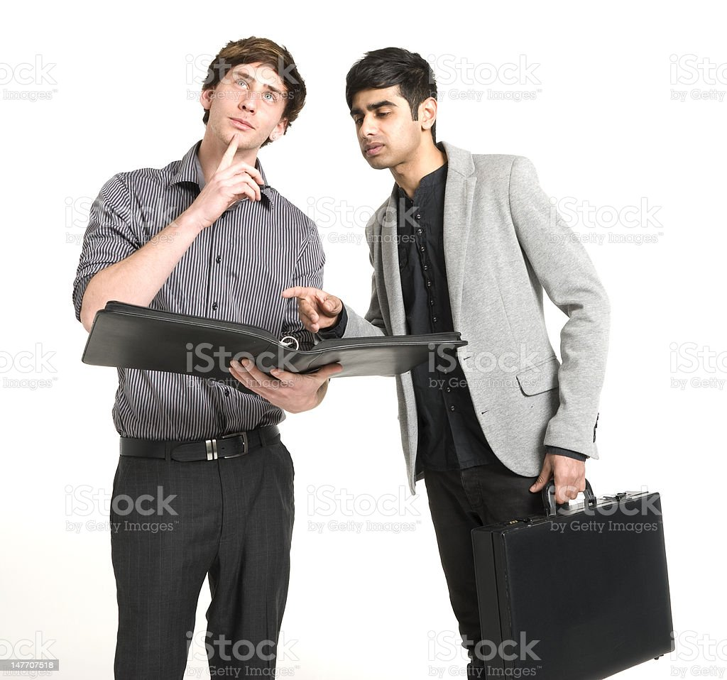 Business Men Making Decision royalty-free stock photo