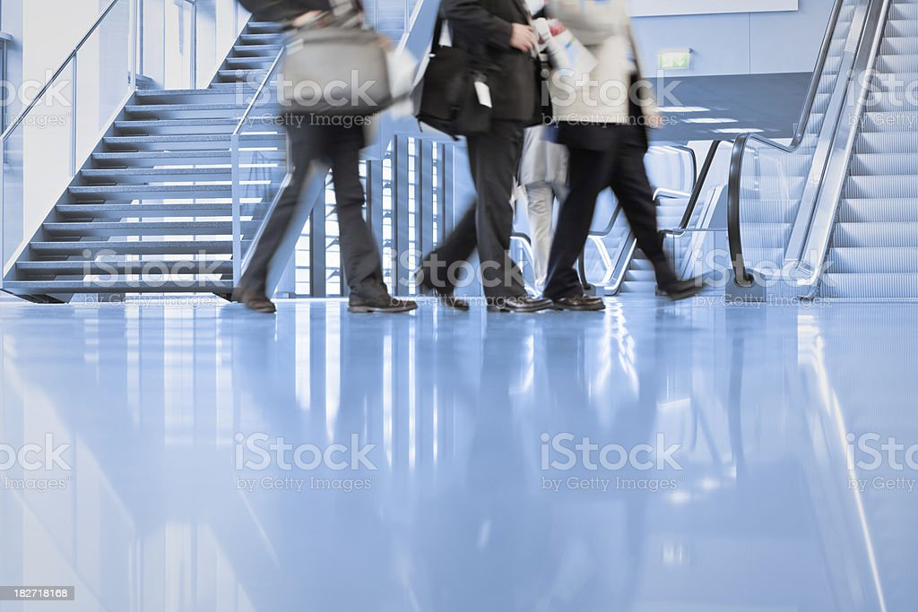Business men walking royalty-free stock photo