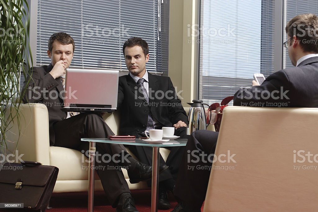 Business men working in the office royalty-free stock photo