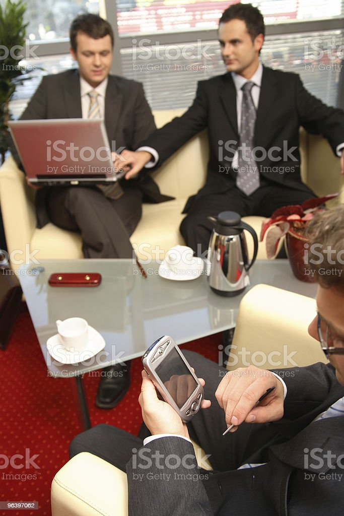 Business men working in the office - Royalty-free Adult Stock Photo