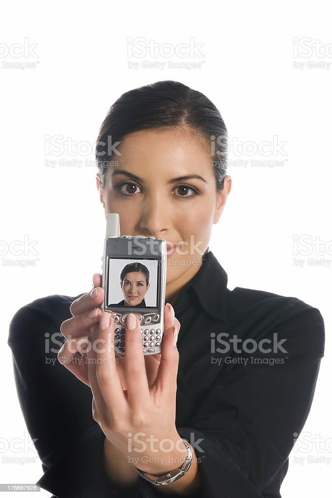 Business: mobile communications royalty-free stock photo
