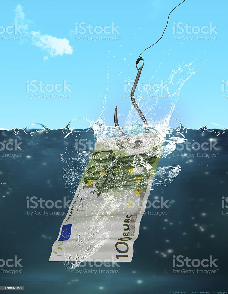 Business Money Background Catch of the day royalty-free stock photo