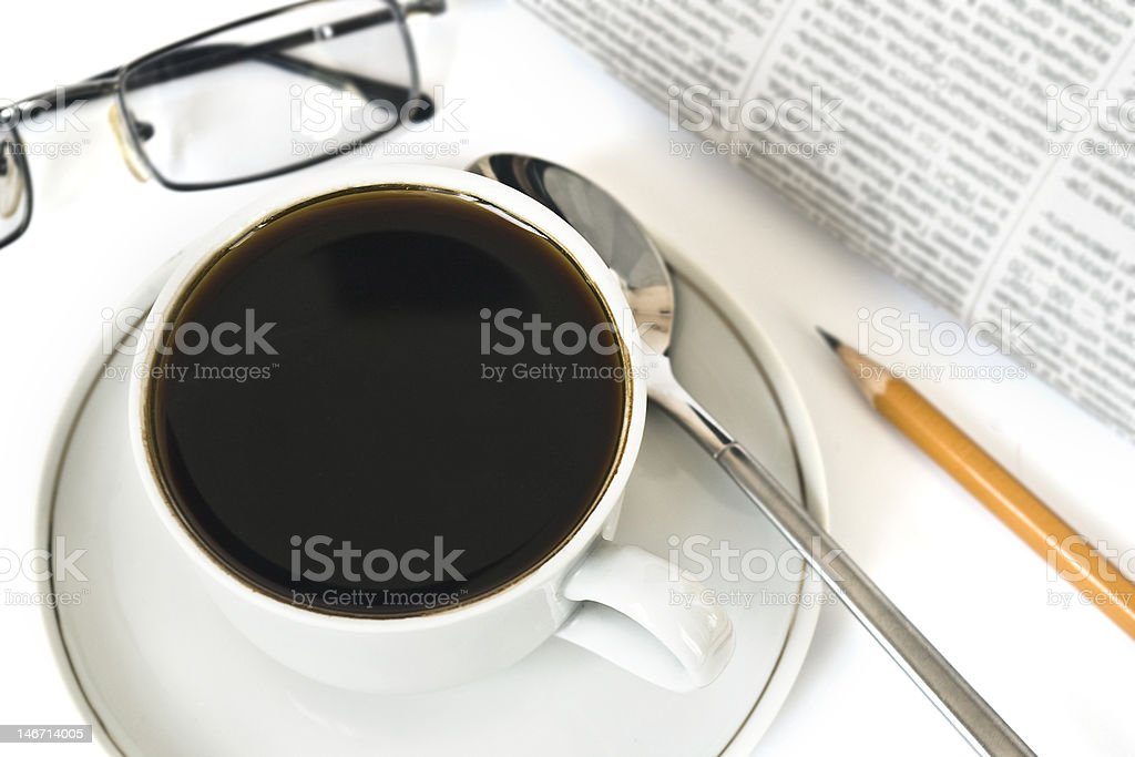 Business morning royalty-free stock photo
