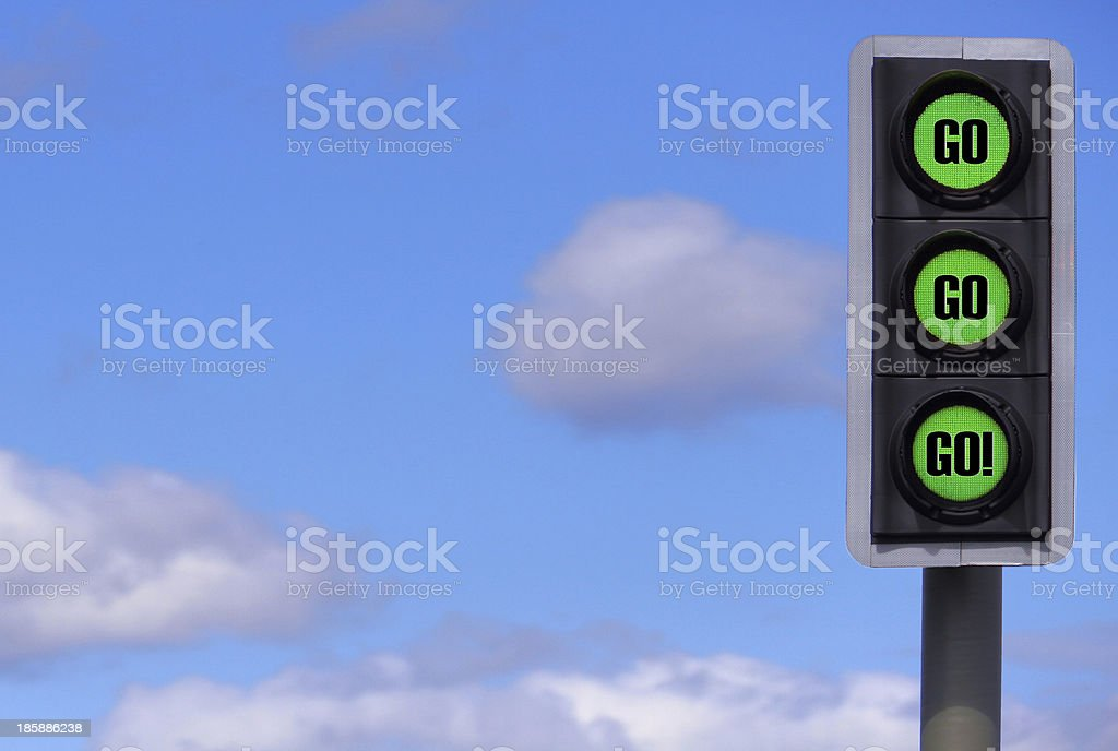 Business Motivational Concept: Go! x3 stock photo