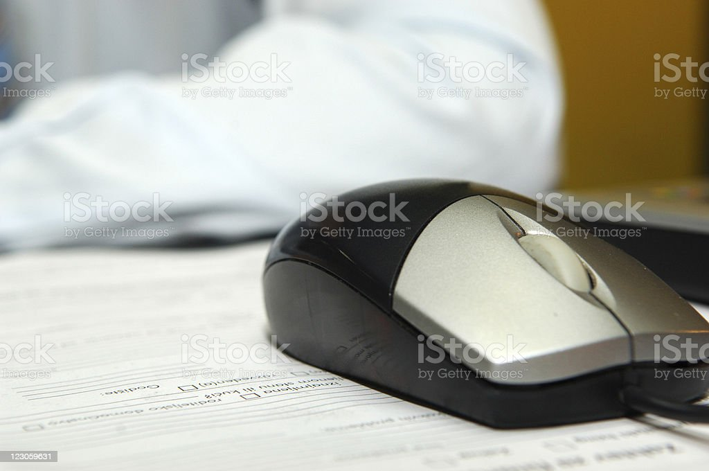 Business mouse on the  form royalty-free stock photo