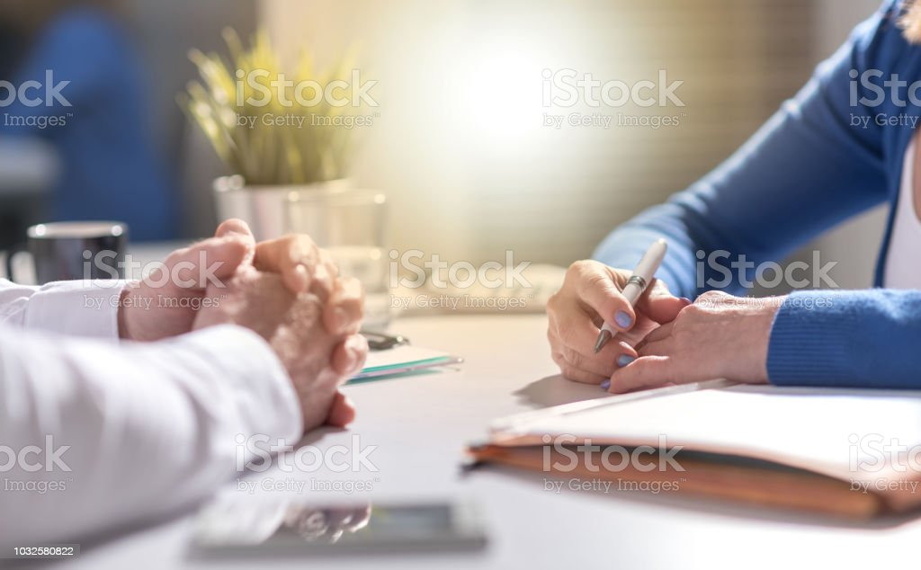 Situation of business negotiation between businesswoman and...