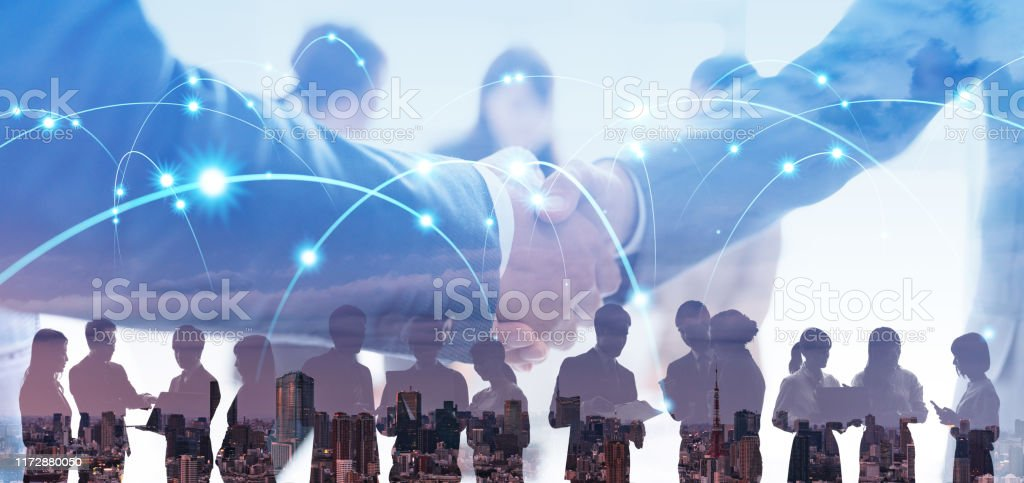 Business network concept. Business connection. - Royalty-free Adult Stock Photo