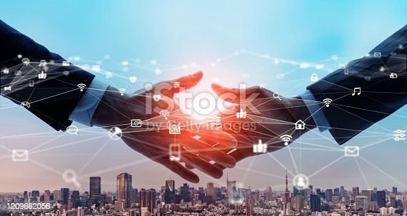 istock Business network concept. Business meeting. Marketing. 1209662056
