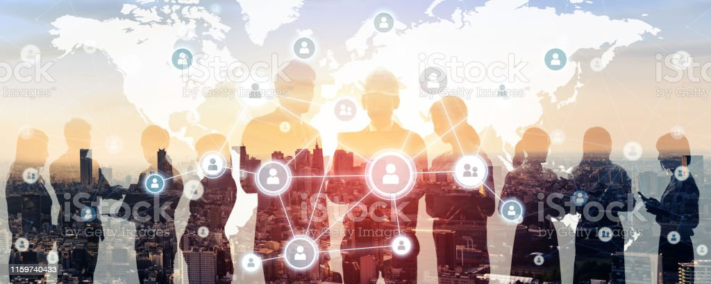 Business network concept. Group of businessperson. - Royalty-free 5G Stock Photo