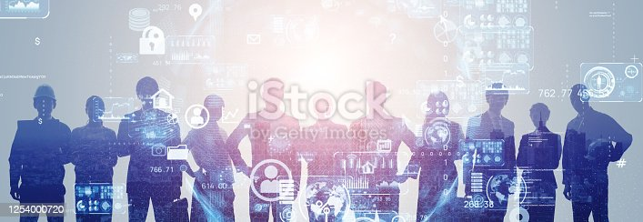 861122560 istock photo Business network concept. Group of businessperson. Teamwork. Human resources. 1254000720