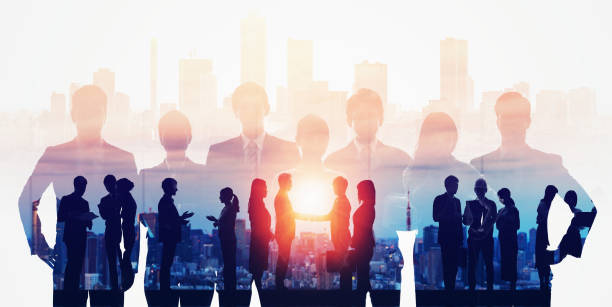Business network concept. Group of businessperson. Teamwork. Human resources. stock photo