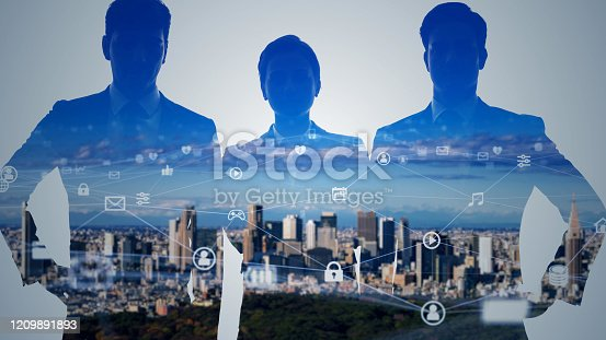 913588258 istock photo Business network concept. Human Resources. Group of businesspeople. 1209891893
