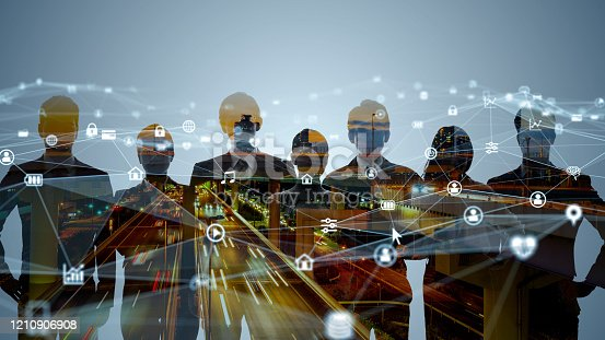 istock Business network concept. Human Resources. Group of businesspeople. 1210906908