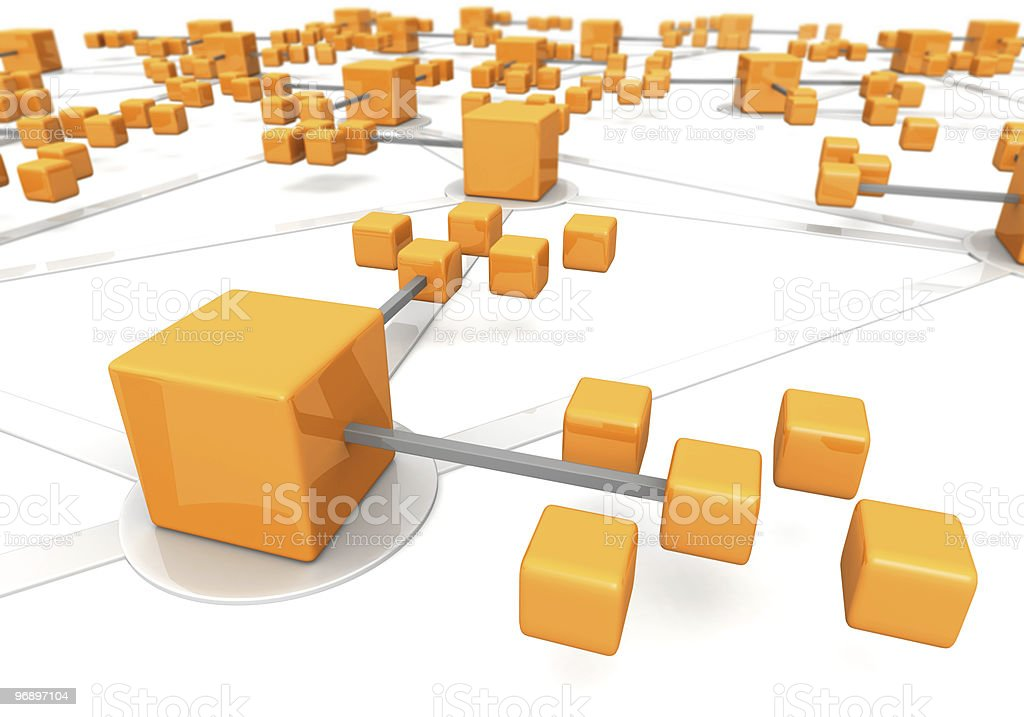Business network concept marco effect royalty-free stock photo