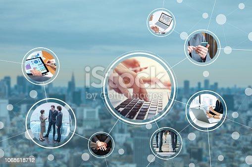 1180187740istockphoto Business network concept. 1068618712