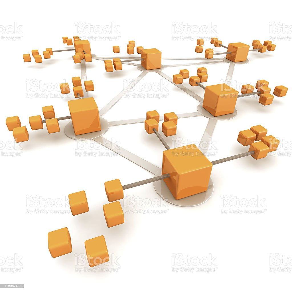 Business network concept royalty-free stock photo