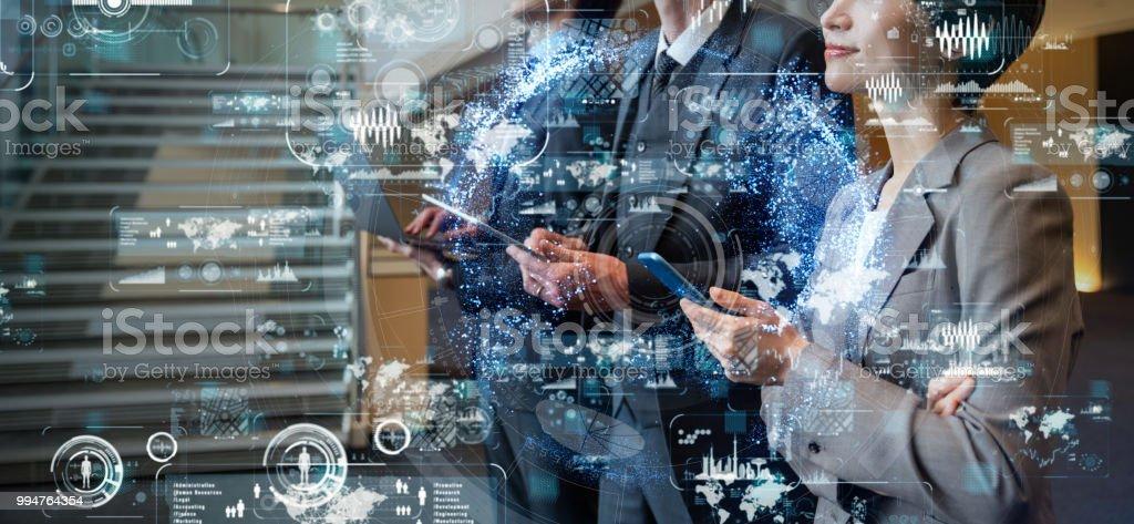 Concept de réseau d'entreprise. SaaS (Software as a Service). - Photo de ATH - Interface utilisateur graphique libre de droits
