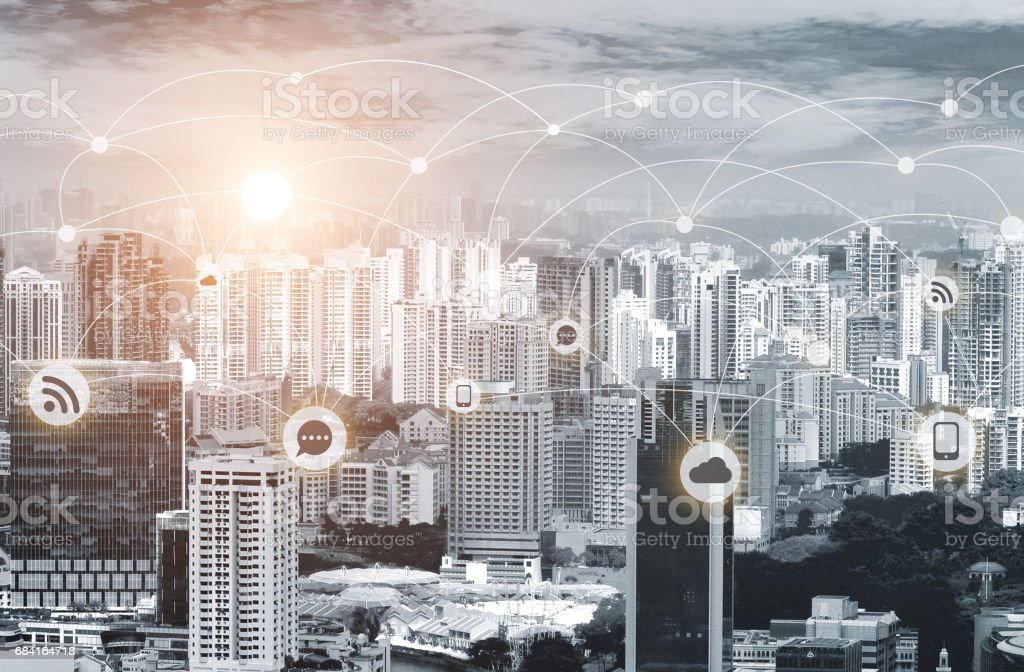 Business network connection concept royalty-free stock photo