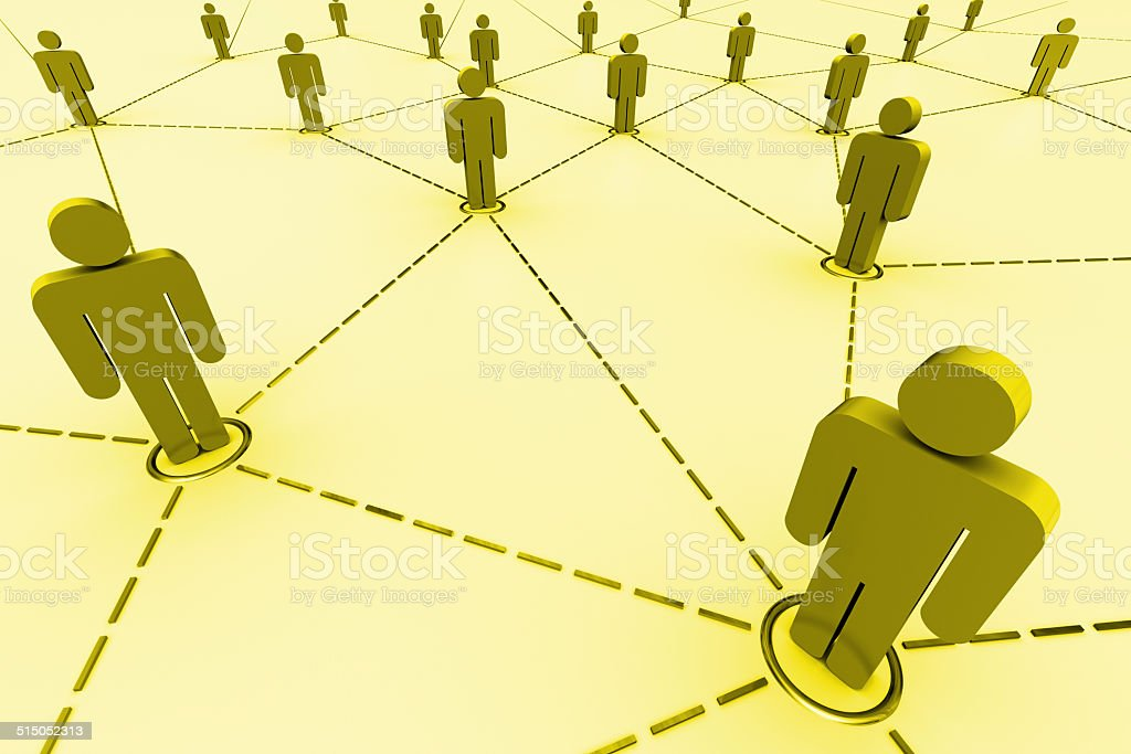 Business Network stock photo