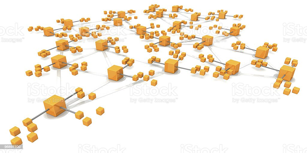 Business network structure concept royalty-free stock photo