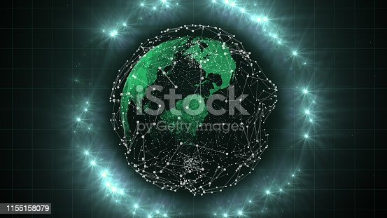 istock Business networking connection concept and Wi-Fi. 1155158079