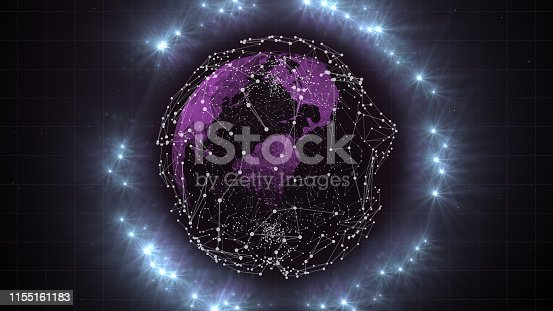 istock Business networking connection concept and Wi-Fi. 1155161183
