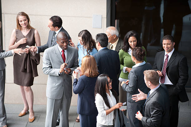 Business Networking group of business folk / all networking together / to generate cash event stock pictures, royalty-free photos & images
