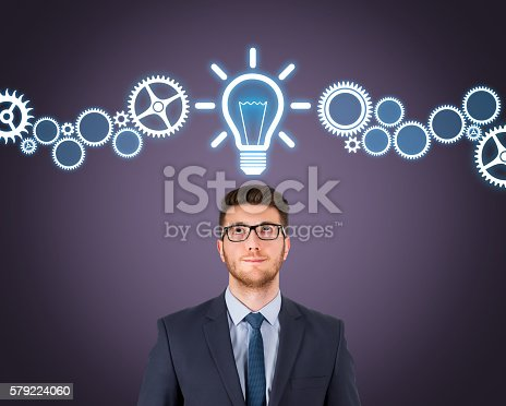 istock Business New Idea on Touch Screen 579224060