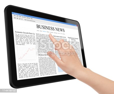 932821906 istock photo Business News Concept on Tablet PC 114419732