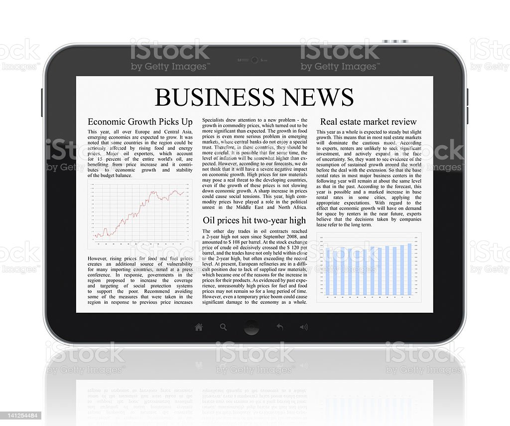 Business News On Tablet PC royalty-free stock photo