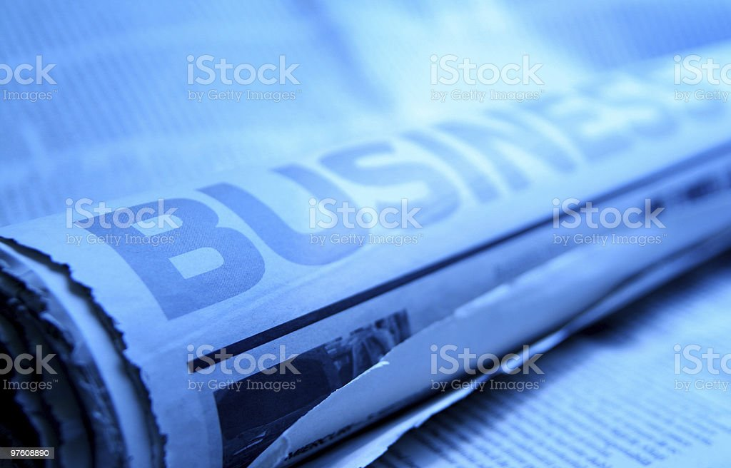 Business news royaltyfri bildbanksbilder